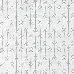 Vevet hvit m lys grå strek/piler