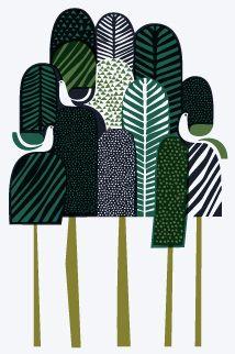 'Metsa' - Silk screen print designed and hand printed by Sanna Annukka.
