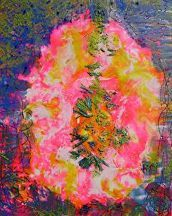 Hot Pink Moment by Bethany Handfield Encaustic ~  x