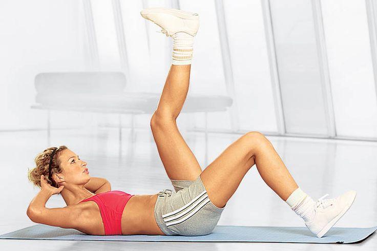 """Übung Workout """"Bauch-Workout"""" für Einbeinlift - hier Schritt für Schritt das Workout in einzelnen Übungen"""