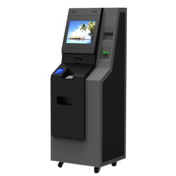 Stand ATM Kiosk Design with Cash-in and Cash-out