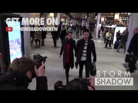 EXCLUSIVE: Cheryl Cole and husband Jean-Bernard Fernandez-Versini leaving Paris Gare du Nord - http://maxblog.com/8022/exclusive-cheryl-cole-and-husband-jean-bernard-fernandez-versini-leaving-paris-gare-du-nord/