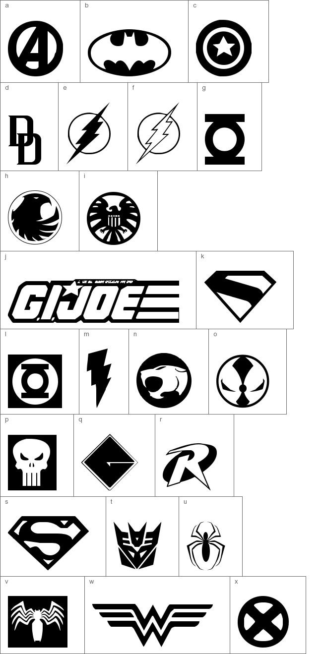 1000  ideas about superhero font on pinterest