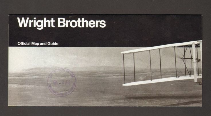 2000 Vacation Travel Brochure National Park Service Wright Brothers Memorial NC