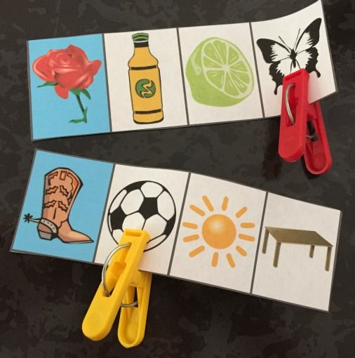 spanish rhyming words pattern and clothespin cards spanish activities and words. Black Bedroom Furniture Sets. Home Design Ideas