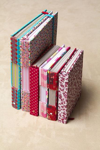 pretty and colorful buttonhole stitch books by *Krishna*, via Flickr
