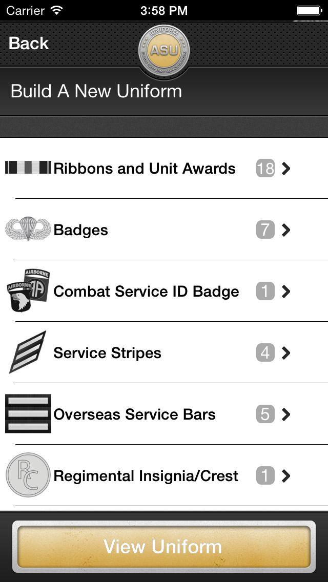 iUniform ASU - Builds Your Army Service Uniform