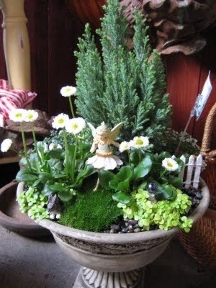 25. Don't #Forget the Fairy - 48 #Fantastic Fairy #Gardens for Your Yard ... → #Gardening #Succulent