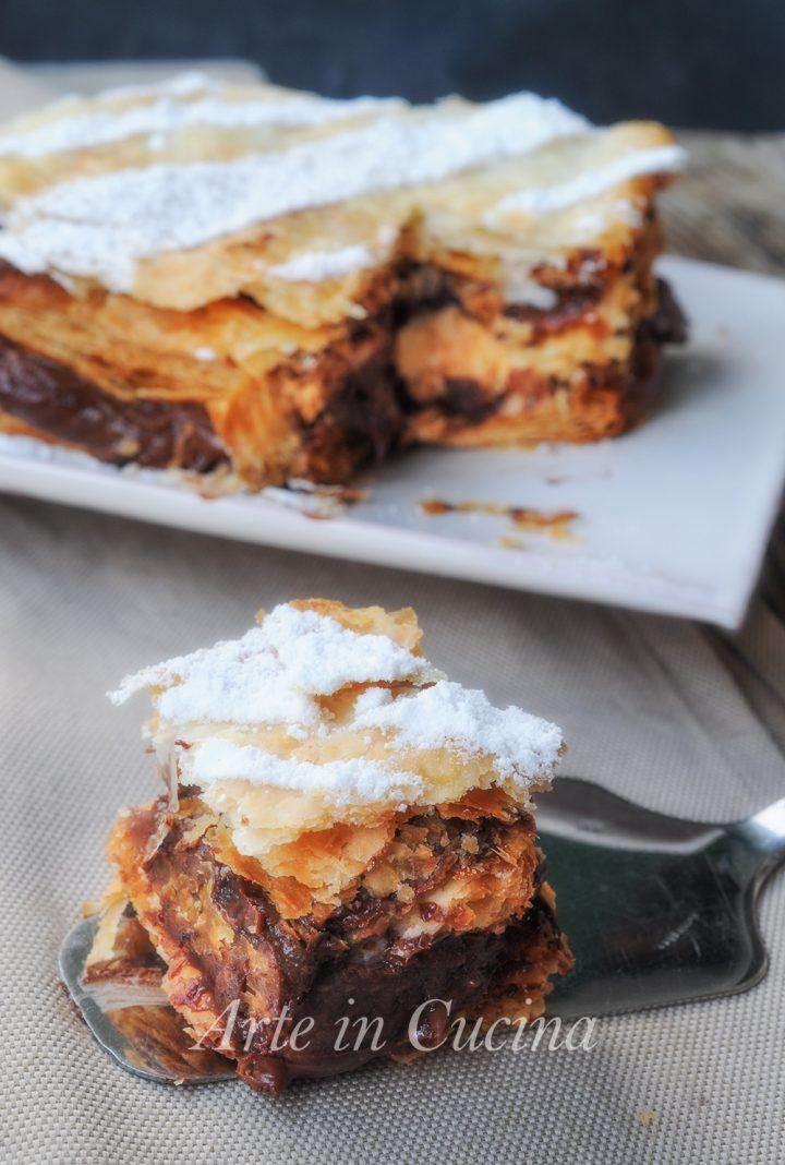 Millefoglie veloce alla nutella cioccolato e ricotta vickyart arte in cucina