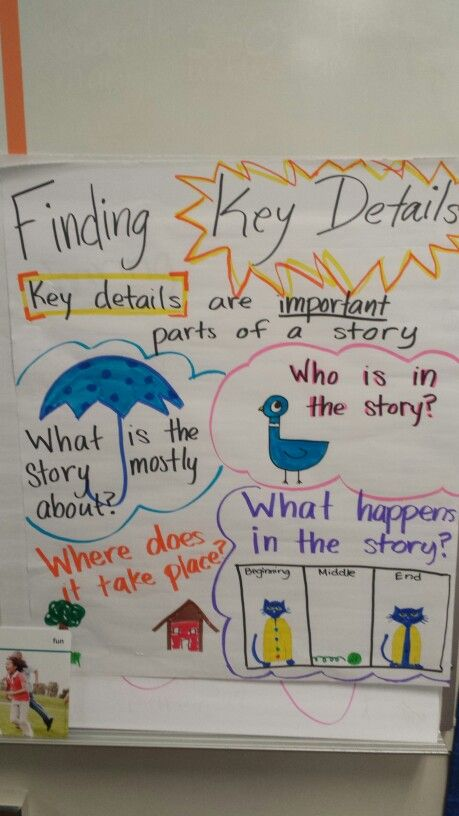 Finding key details anchor chart
