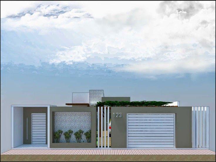 Muros e fachadas casa terrea pesquisa google decora o for Ingreso casas modernas