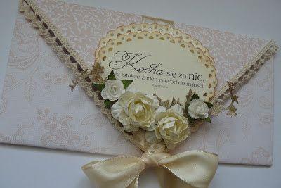 Papierowe pasje.: Kolejna ślubna kopertówka