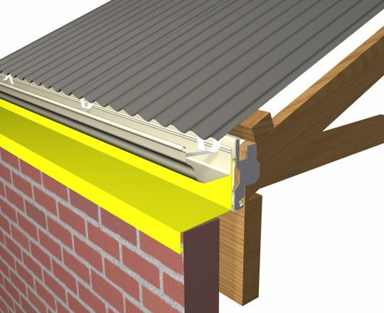 Boundary Gutter Detail For Colorbond 174 And Zincalume 174 Steel