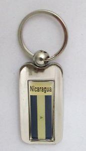 Nicaragua-Flag-Key-Chain-Nicaragua-Flag-2-034-Steel-Metal-Souvenir