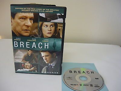 Breach DVD WIDESCREEN Action Adventure Movie Chris Cooper Ryan Phillippe Sale