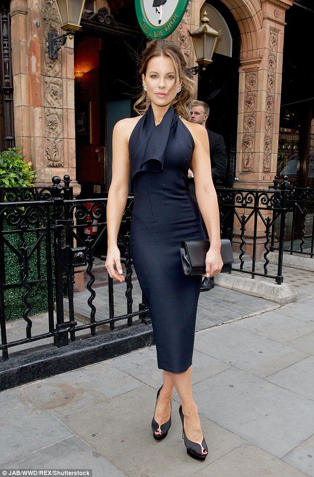 Elegant: Kate Beckinsale looked a world away from her Love & Friendship character as she attended the Lady Dior Party in London on Monday