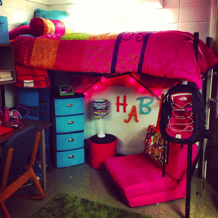 This Ut Student Has A Colorful And Fun Dorm Room