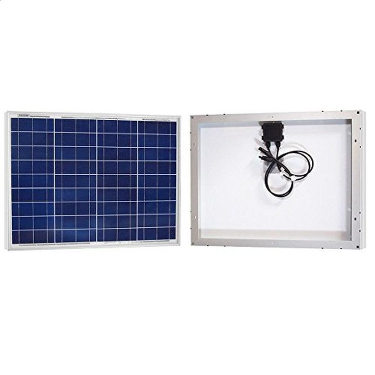 ACOPOWER® 50Watt 50W Polycrystalline Photovoltaic PV Solar Panel Module with MC4 for 12V Battery Charging - Brought to you by Avarsha.com