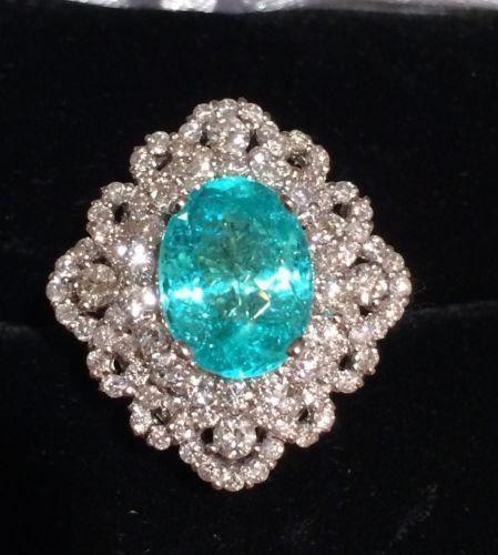 Pariba Tourmaline and diamonds