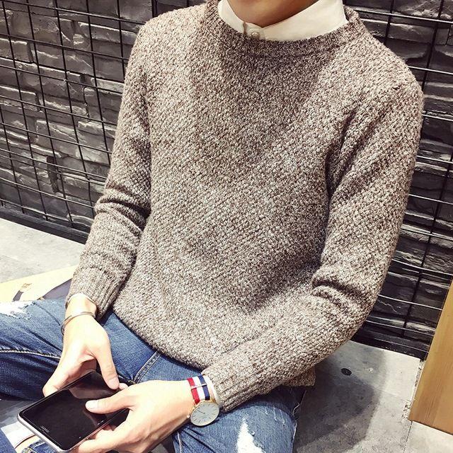 TG6113 Дешевые оптовые 2016 новый Чистый цвет пуловеры мужской хан студенты издание круглым воротом мужчин свитер пальто