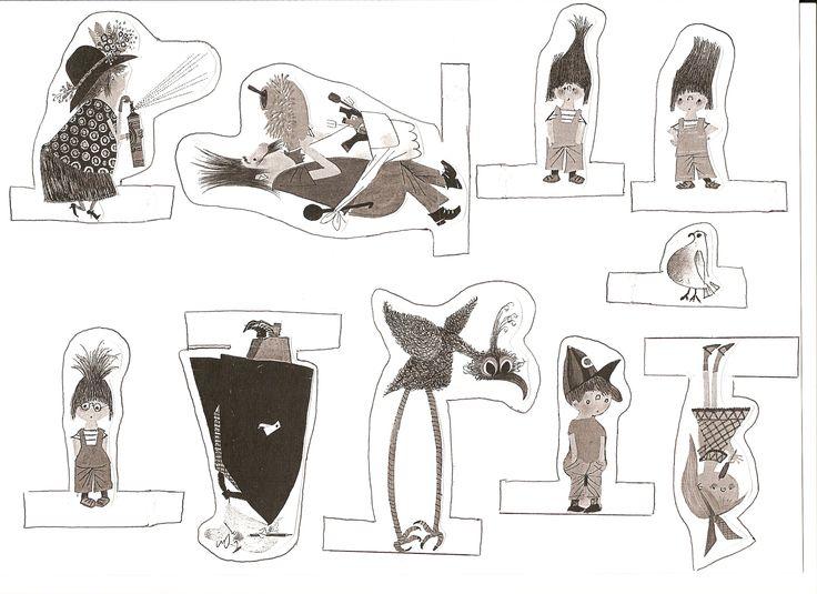 Vingerpopjes Pluk van de Petteflat / fingerpupets