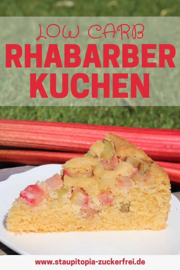 Low Carb Rhabarberkuchen Mit Nur 5 Zutaten Rezept Mit Bildern Rhabarberkuchen Rhabarberkuchen Rezept Rhabarber