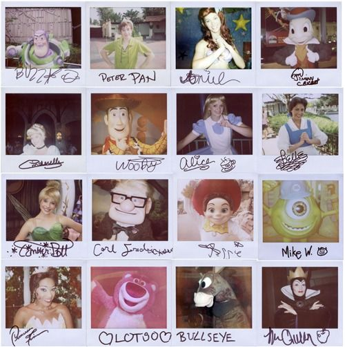 Disney Character autographs