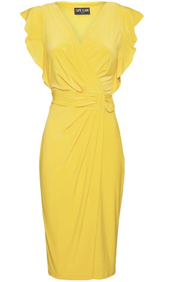 Debenhams Ossie Clarke Yellow Dress