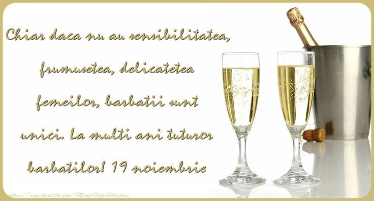 La multi ani tuturor barbatilor! 19 noiembrie - Ziua Barbatului