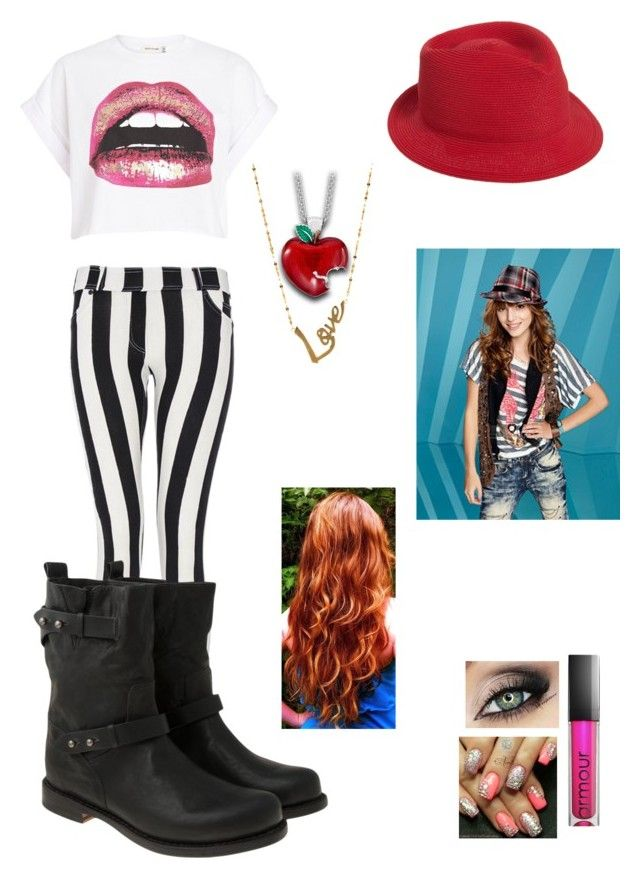 """Inspired by Cece from Shake It Up ! :)"" by crazydirectionergirl ❤ liked on Polyvore featuring Mode, River Island, Armour, Jennifer Ouellette, Lana Jewelry, Quiz, rag & bone und Disney"