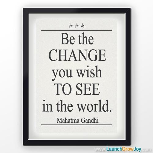 Great quote by Mahatma Gandhi #Inspirationalquotes http://www.launchgrowjoy.com