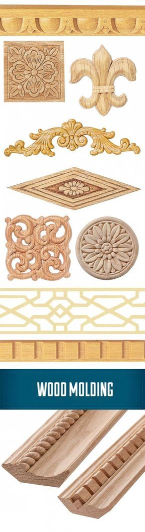 Wood molding and molding accent pieces. Add a classic flare to your project. http://www.rockler.com/wood/molding