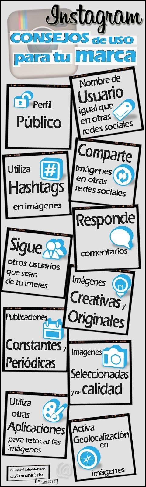 Comunic@rte: Instagram: Consejos de uso para tu marca (#Infografía)