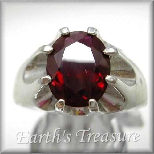 Ruby Mens Ring for Men Ruby Ring  4ct Blood by MensRingsandJewelry