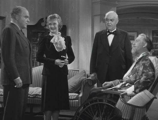 Grant Mitchell, Billie Burke, George Barbier and Monty Wolley - Movie Monday: The Man Who Came To Dinner - a review by Me and My SoldierMan