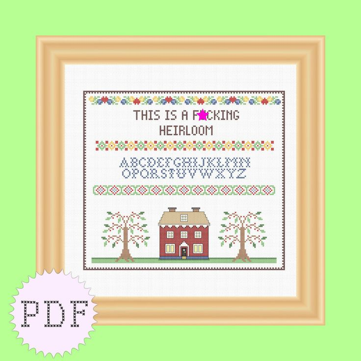 Hahahahaha instant download cross stitch sampler pattern