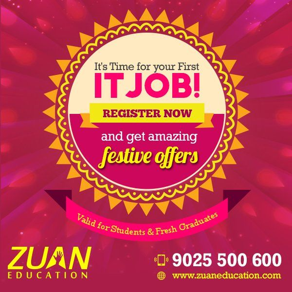 Now, enroll for a course @ZuanEducation, & get 20% OFF on all IT courses ! Call 9884885363 to enroll now!