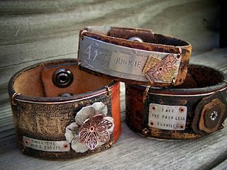 Melinda Orr. Metal and leather bracelets. Very trendy