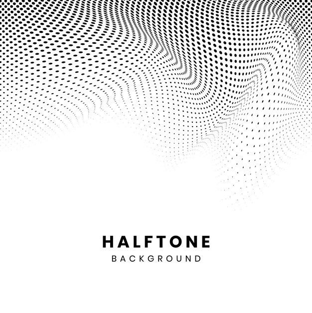 Download Black Wavy Halftone On White Background Vector For Free