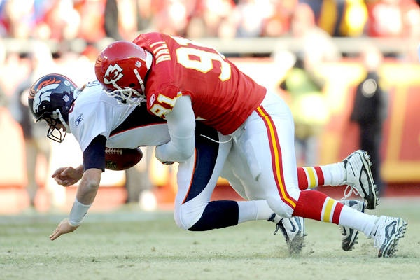 Tamba Hali, DE, Kansas City - is third in team history in forced fumbles and fourth in sacks, and made his first Pro Bowl in 2011.