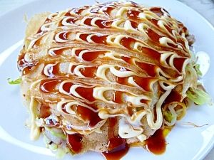 """The as-you-like-it pancake of the Hiroshima style""  広島風お好み焼き✿/お好み焼き"
