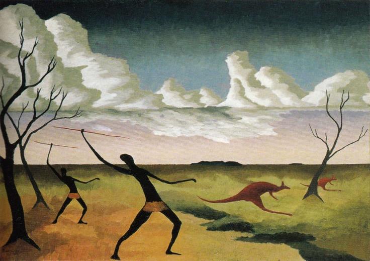 "Peter Purves Smith  ""Kangaroo Hunt""(1938)  Collection of MoMA, New York"