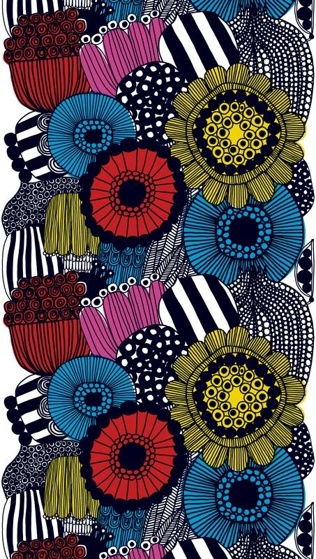 'Siirtolapuutarha' (Flower Garden), by Maija Louekari for Marimekko