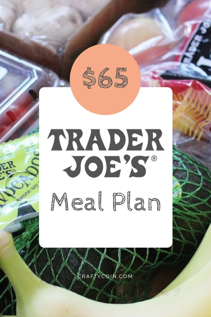 This is a great meal plan using all ingredients from Trader Joe's! It's perfect for two people.