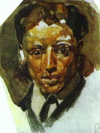 Self Portrait, 1885  Mikhail Vrubel