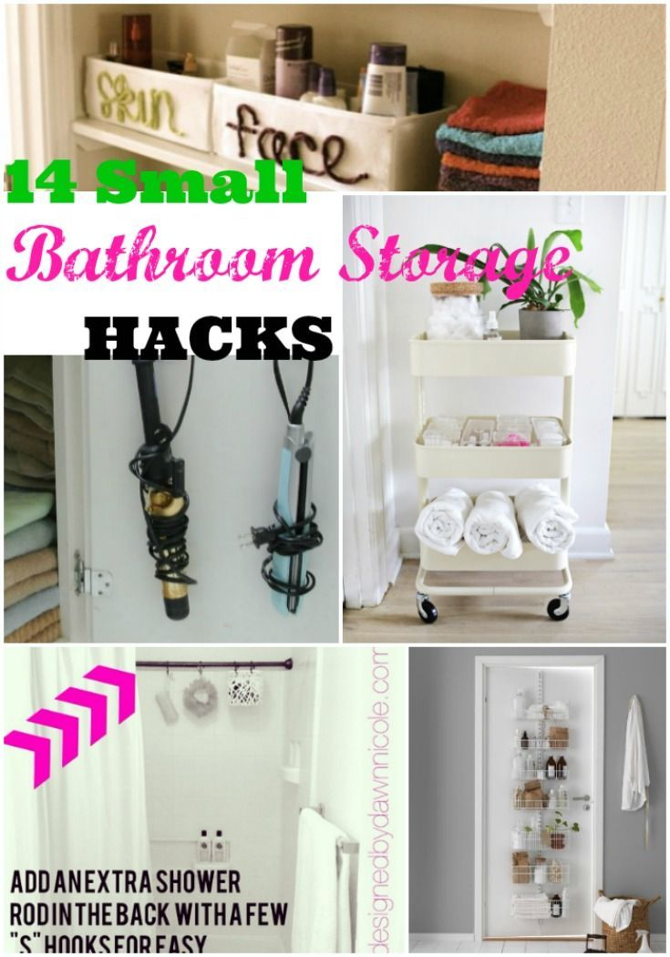 16 Bathroom Hacks And Best Bathroom Storage Ideas For Small Spaces Bathroom Storage Fun Bathroom Decor Small Bathroom Storage Solutions