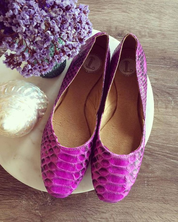 38 Sale MAYA- Ballet Flats - Python skin leather Shoes - 38- Pink leather. 38 on sale only by Lolliette on Etsy