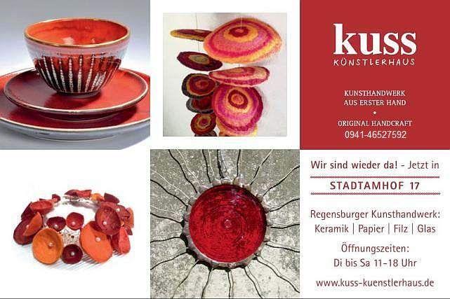 Kuss Künstlerhaus sind drei Regensburger Künstler.