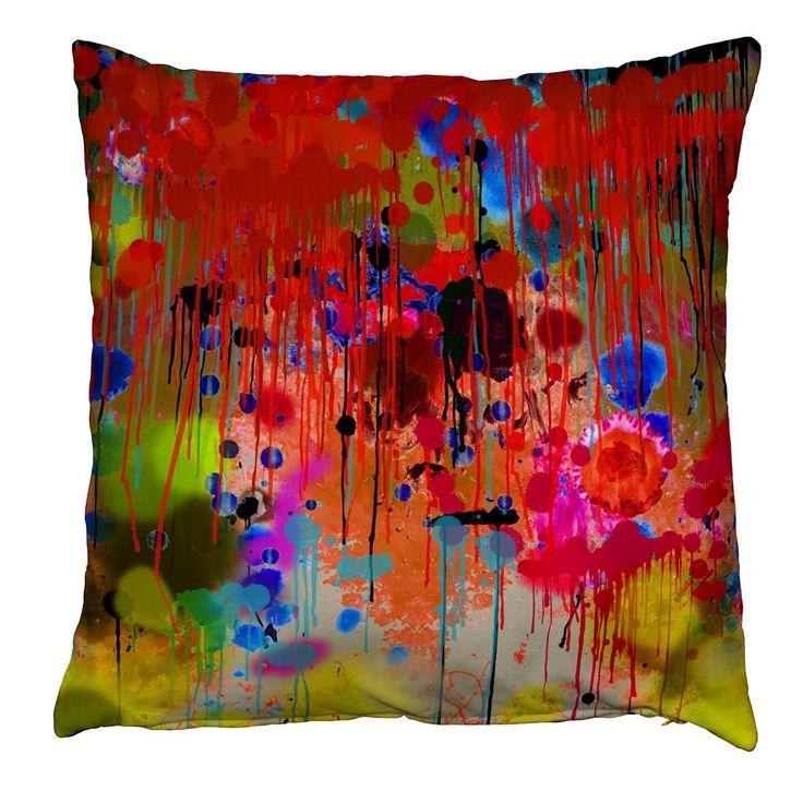 Graffiti Drips cushion