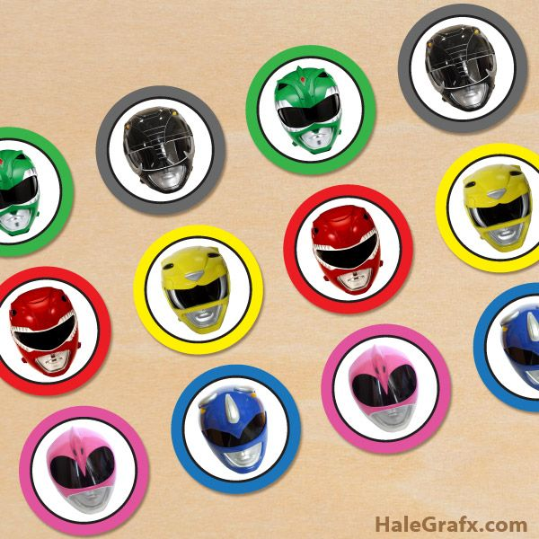 Free Printable Power Rangers Cupcake Toppers Power Ranger Cupcakes Power Ranger Birthday Party Diy Power Ranger Birthday Party